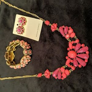 Earring Necklace Bracelet Set